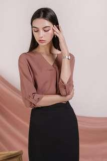 TTR Kerry Origami Blouse in Tea Rose (Size S)