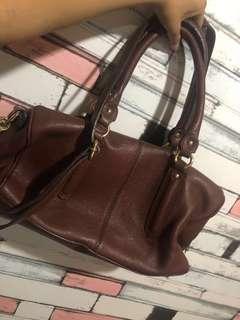 Steal Genuine Leather Handbag Brown Leather