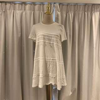 Like New N.21 white tee with lace