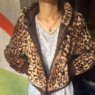 Fur Jacket Animal Print