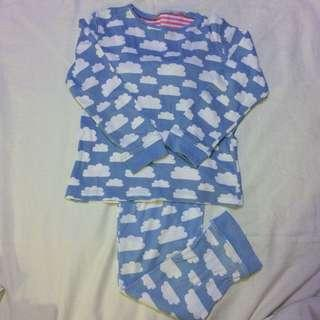 Mothercare blue clouds pyjamas