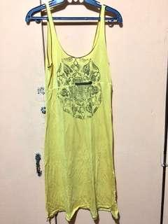 Yellow light boho dress