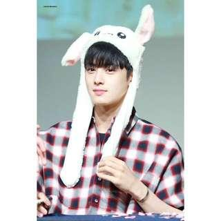 💓💜Korean Rabbit Hat with 3 Speed LED Light Movable Ear Fashion Hat