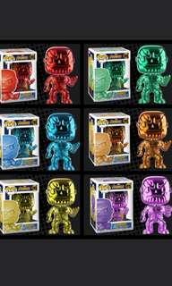 Funko Pop Thanos Green Blue Red Yellow Orange Purple Chrome Infinity Gauntlet NOT Avengers Sdcc Walmart Culture Dr Strange Glow Ghost Rider