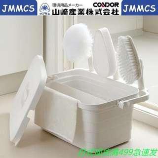 🚚 現貨-【山崎産業】Satto清潔用具手提收納箱(含長柄、拖把、刷具)