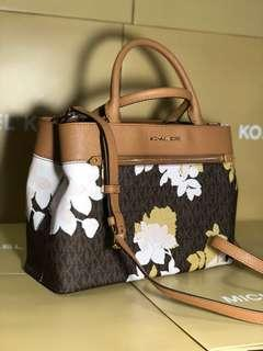 Michael Kors 2 way satchel bag in floral print