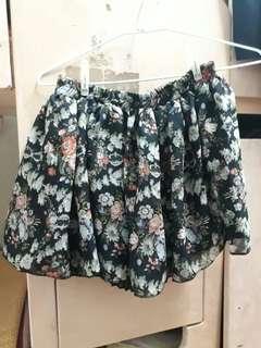小碎花兩面穿短摺裙