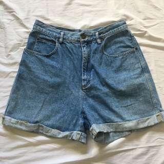 Denim Highwaist/Highwaisted Shorts