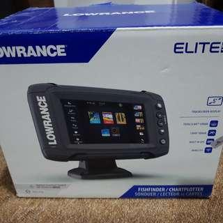 Fish Finder Lowrance Elite 5Ti with TotalScan Transducer