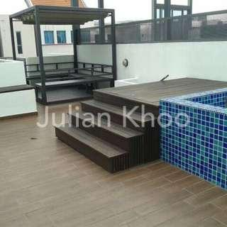 1-bedroom Penthouse + Roof Terrace + Jacuzzi @ Suites 28, Lor 30 Geylang