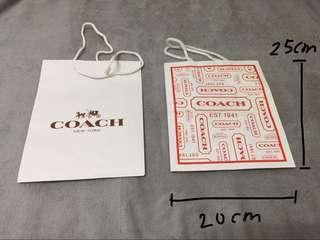 🚚 正品coach紙袋