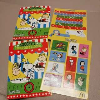 Snoopy memo pad with stickers