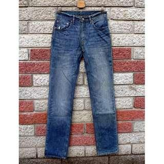 🚚 Levis 551 二手牛仔褲- 正品 破壞 窄管-(LEVIS 05551-0017)-W30 L34