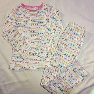 Mothercare white stripy chicks pyjamas