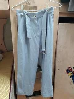 珍珠白寬褲(韓貨)