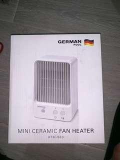 德國寶 迷你陶瓷暖風機全新未用過 跟單保養 零售價 $480