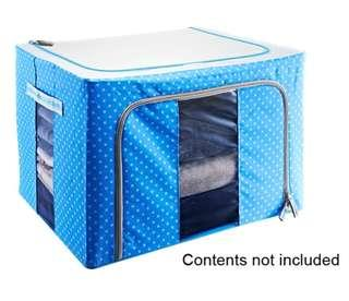 Space saving coated oxford cloth and metal frame storage box