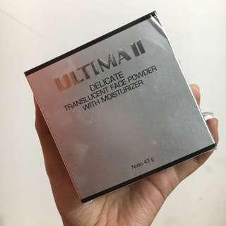 Bedak tabur Ultima II delicate translucent face powder with moisturizer