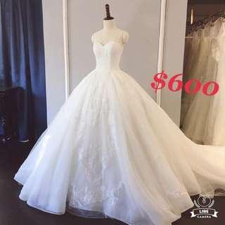 拖尾婚紗wedding dress100%new