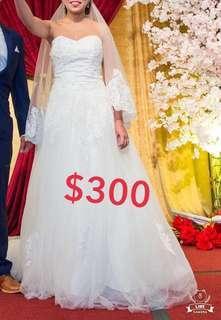 拖尾婚紗wedding dress
