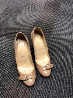 Christian Louboutin nude heels