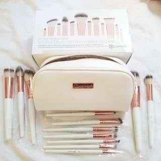 Authentic BH Cosmetics Rose Romance Brush Set