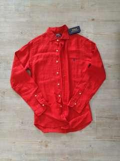 🚚 Ralph Lauren Men's Red Shirt (M)