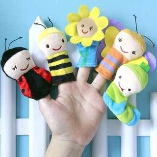 2019 New Cartoon Insect Finger Puppet Toy Doll Baby Cloth Educational Hand Toy