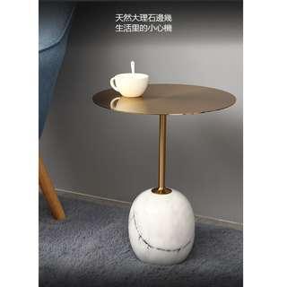 金属支架定制專家,手工焊接鐵藝電鍍創意小茶几,大理石邊幾,陽台小茶几,沙發大理石邊幾,迷你現代簡約床邊桌。