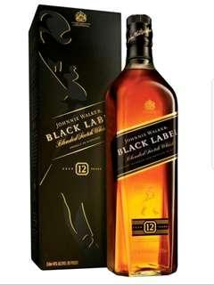 Johnnie Walker Black Label 黑牌 威士忌 1L