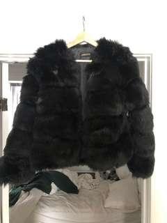 REDUCED Black faux fur jacket MUST GO