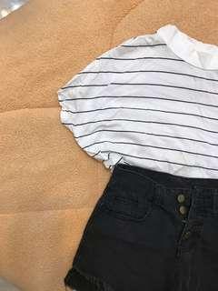 🚚 高腰黑色短褲