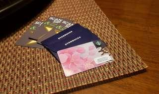 LIMITED EDITION: Sakura design Starbucks card; Two (2) pieces left!
