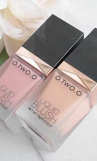 O. Two. O liquid blush on