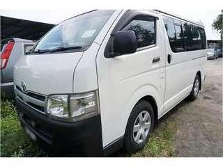 Toyota Hi ace for rent