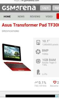 Asus transformer pad TF300T only wifi