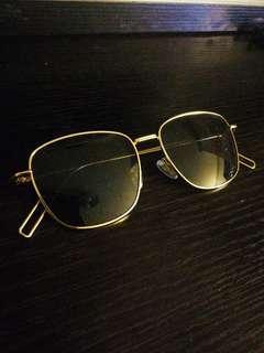 復古金邊太陽眼鏡