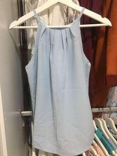 Blue strap top