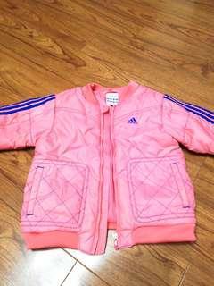 Adidas 夾棉女孩外套,size 90, 18 months