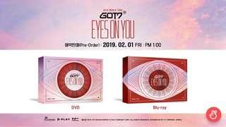 """[PO] GOT7 """"Eyes On You"""" World Tour DVD and Blu Ray"""