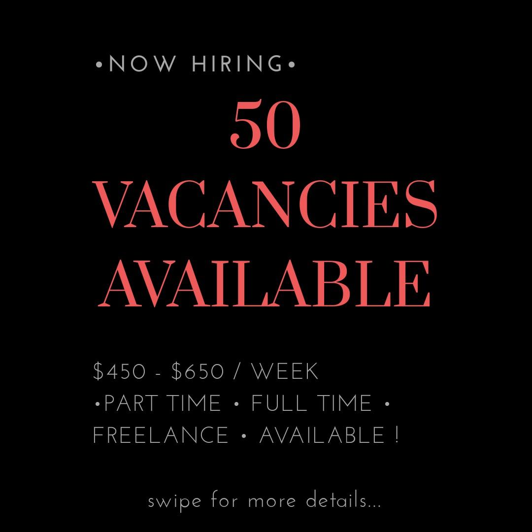 50X PART TIME POSITIONS AVAILABLE !! ($450-$650/WEEK !!)