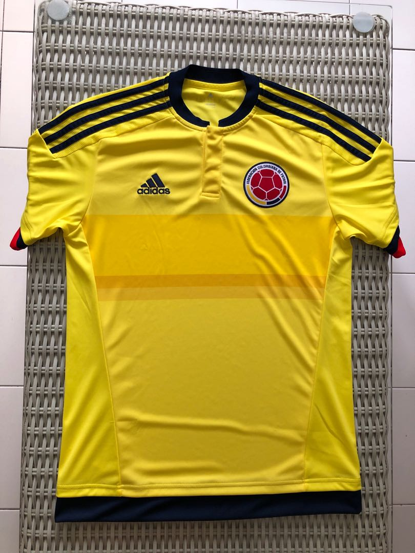bfbdf508d66 Adidas💯% Authentic yellow Colombia home jersey for SGD 27 (size S ...