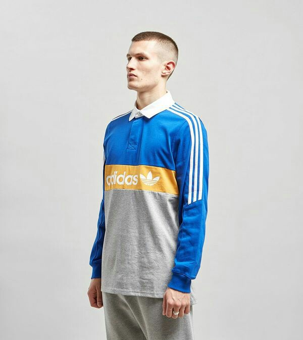 dd6a4238 Adidas Originals Heritage Long Sleeve Rugby Polo Shirt, Men's Fashion,  Clothes, Tops on Carousell