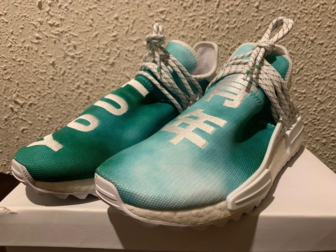new style 5a75a a5e2c Adidas Pharrell NMD Hu China Green Pack Youth, Men's Fashion ...