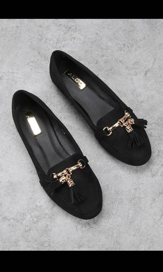 0ceb76f554c Aldo loafer flats pumps tassel flats comfy black gold