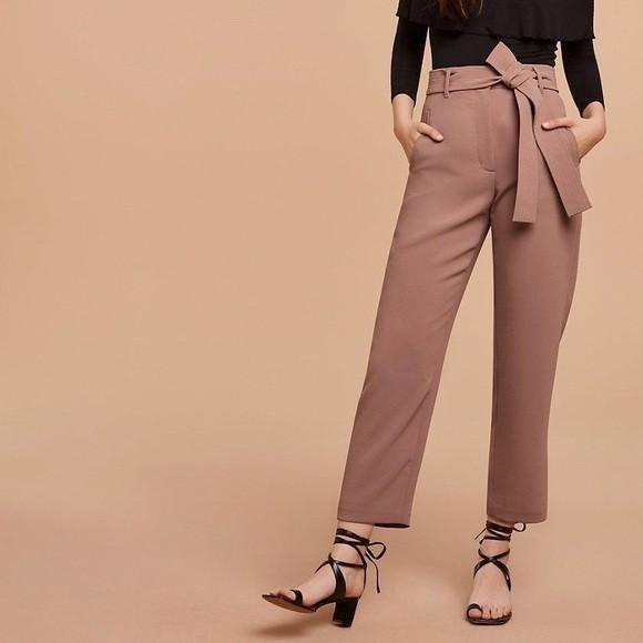 Aritzia Wilfred Jallade Crepe Pants in Nutmeg size 10