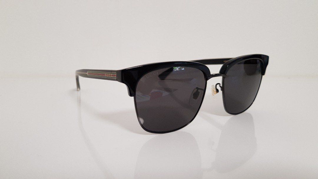 b6dda7daca3 Authentic Gucci Sunglasses Men Black Green Red Gold