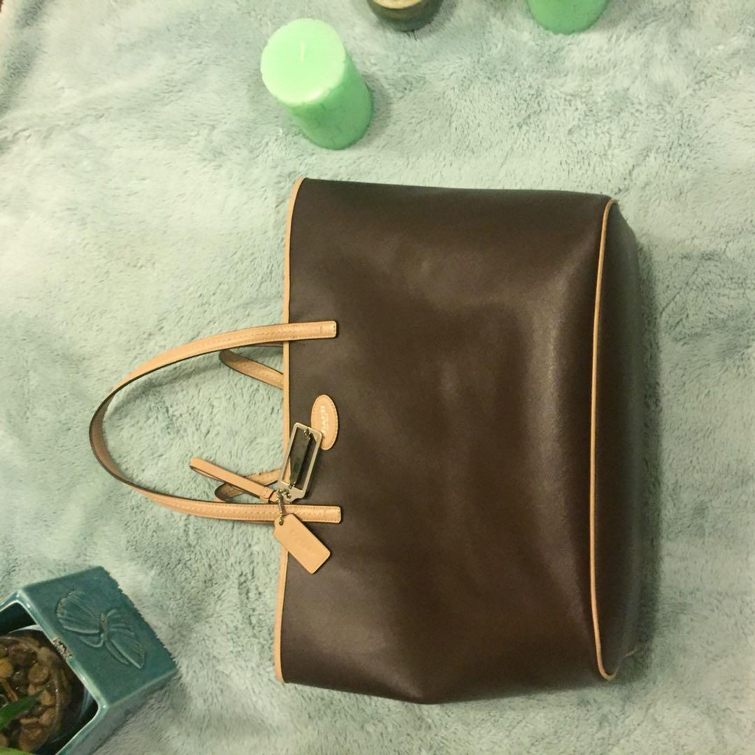 Authentic large coach tote purse