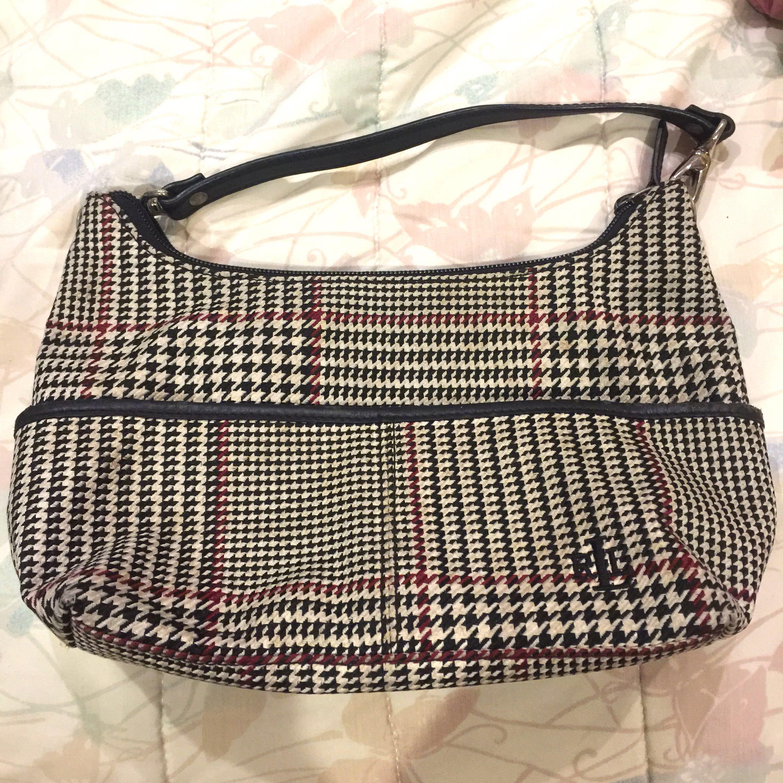 e1b391cfe1 Authentic Ralph Lauren Vintage Houndstooth Handbag