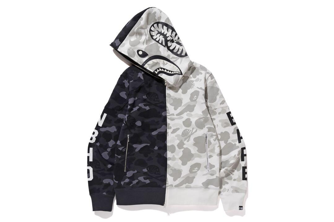4e881067c4b5 Bape x nbhd shark hoodie